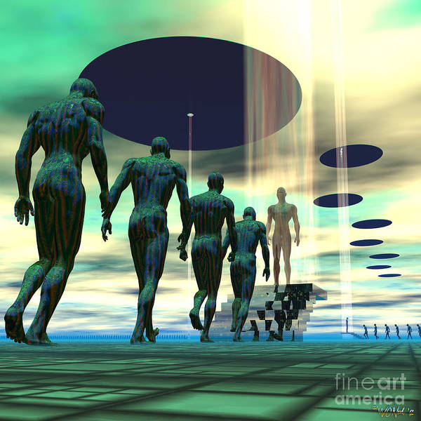 Science Fiction Art Print featuring the digital art Mission To Earth by Walter Neal