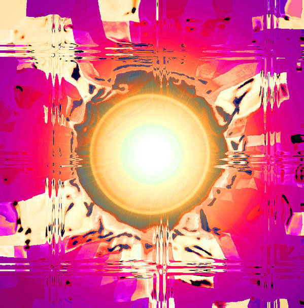 Moveonart! Digital Gallery Art Print featuring the digital art MoveOnArt May This Gift Of Light Help You Along Lifes Way by Jacob Kanduch