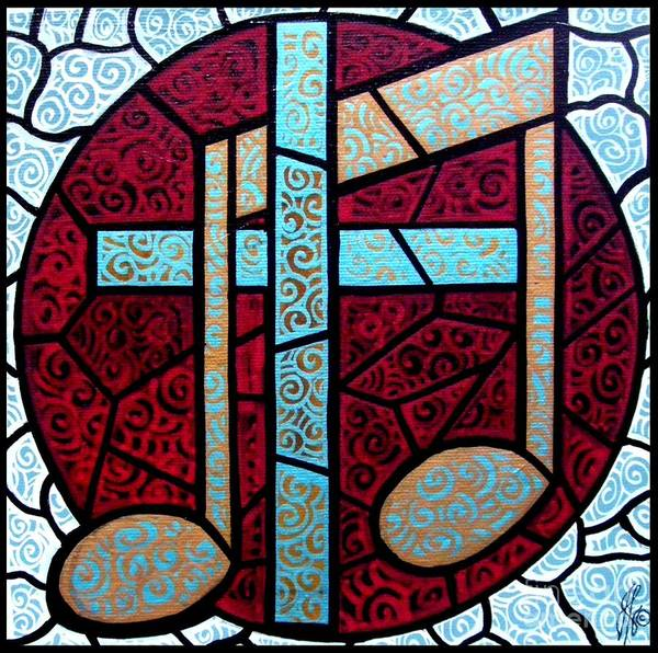 Cross Art Print featuring the painting Music of the Cross by Jim Harris