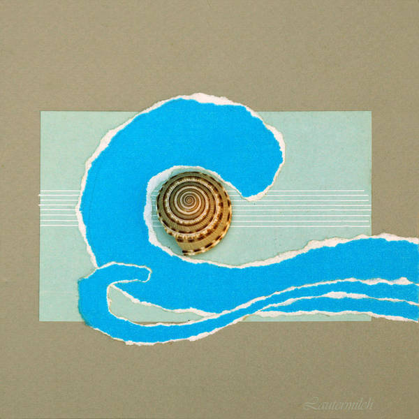 Shell Art Print featuring the painting Music of the Ocean Waves by John Lautermilch