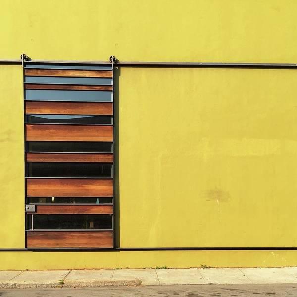 Art Print featuring the photograph Mustard Wall by Julie Gebhardt
