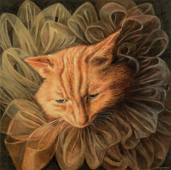 Fashion Illustration Art Print featuring the painting Orange Tabby by Barbara Tyler Ahlfield