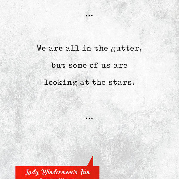 wall art poster print gift literary book quote Oscar Wilde quote art print