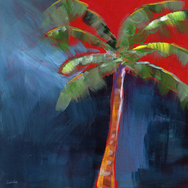 Palm Tree Art Print featuring the painting Palm Tree- Art by Linda Woods by Linda Woods