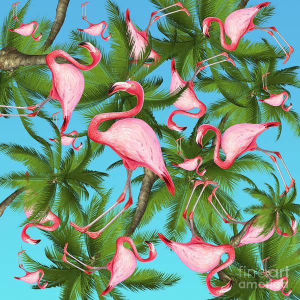 Summer Art Print featuring the digital art Palm tree by Mark Ashkenazi