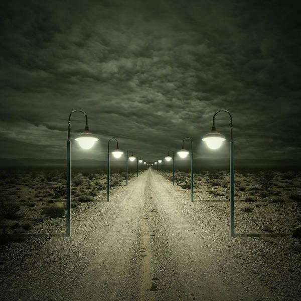 Dark Art Print featuring the digital art Path by Zoltan Toth
