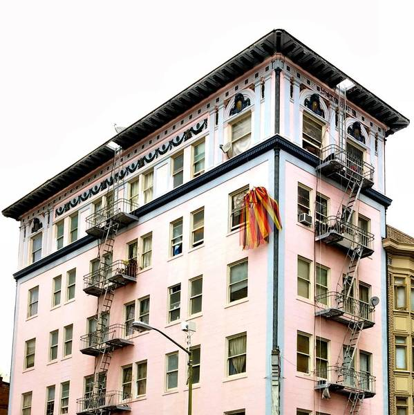 Art Print featuring the photograph Pink Building by Julie Gebhardt