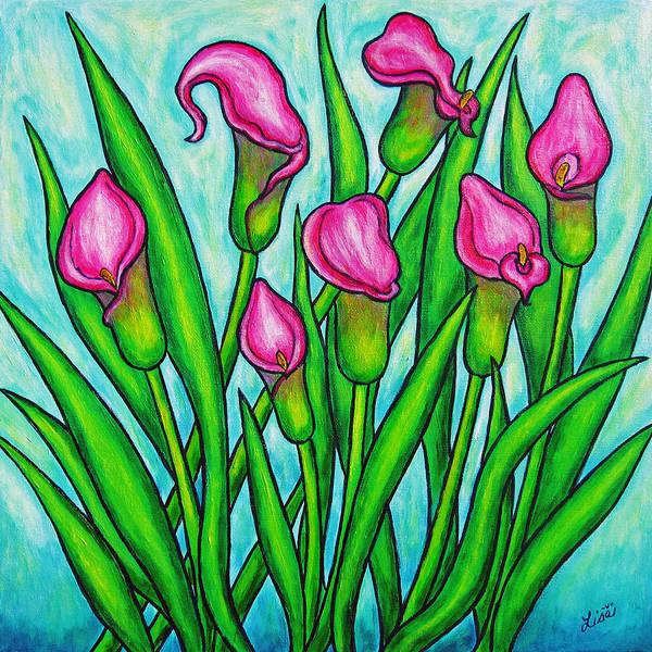 Lisa Lorenz Art Print featuring the painting Pink Ladies by Lisa Lorenz