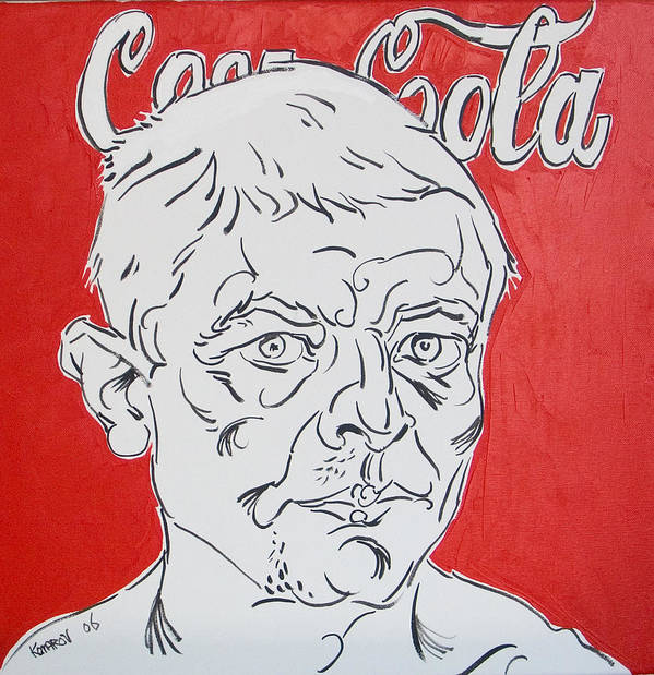 Coca Cola Art Print featuring the painting Portrait with Coca Cola by Vitali Komarov