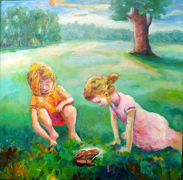 Kids Art Print featuring the painting Prairie Prince by Naomi Gerrard