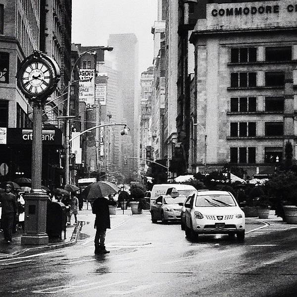 New York City Art Print featuring the photograph Rain - New York City by Vivienne Gucwa