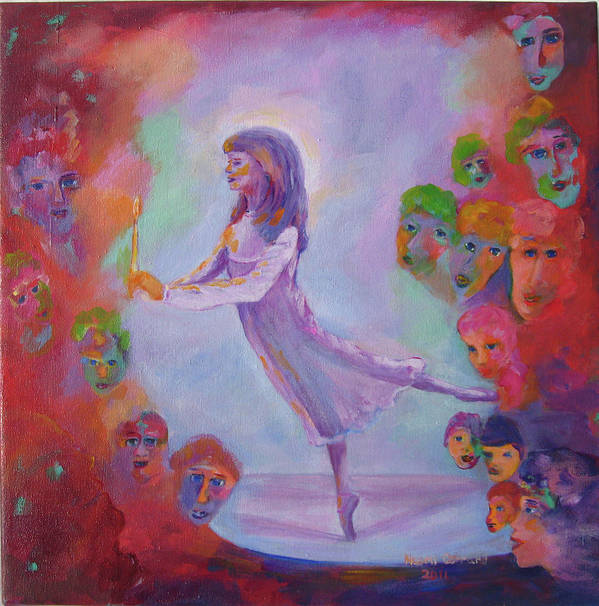 Child Remembering Art Print featuring the painting Remembering The Nutcracker by Naomi Gerrard
