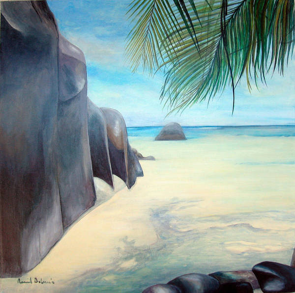 Paysage Art Print featuring the painting Reve by Muriel Dolemieux
