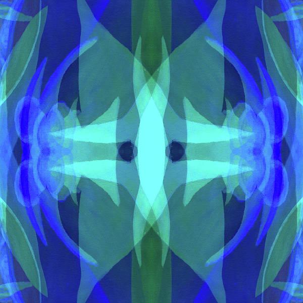 Blue Art Print featuring the digital art Reverberations by Peter Shor