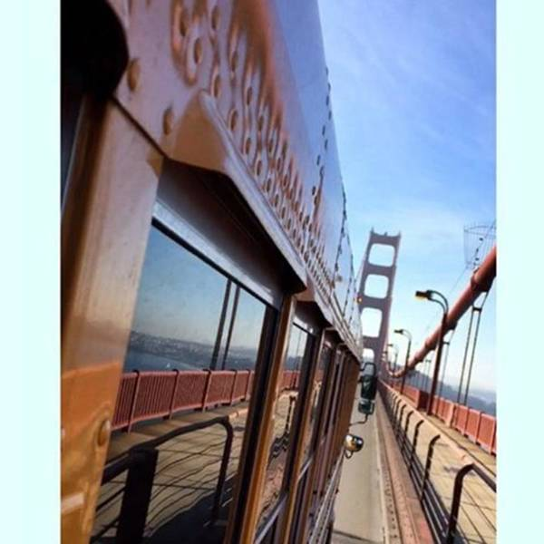 Goldengatebridge Art Print featuring the photograph #roadtosanfrancisco #fieldtrip by Julius Brendler