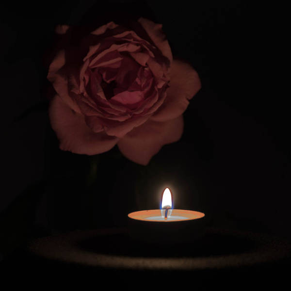 Angle Art Print featuring the photograph Rose Candle by Adrian Bud