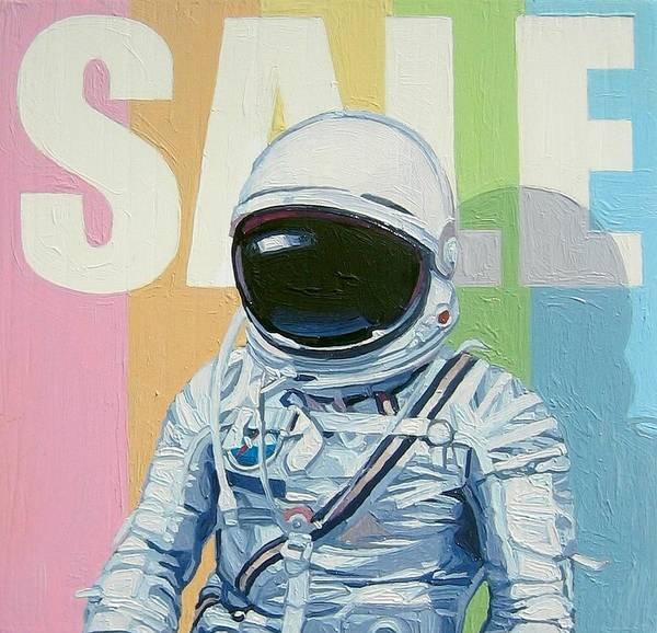 Astronaut Art Print featuring the painting Sale by Scott Listfield