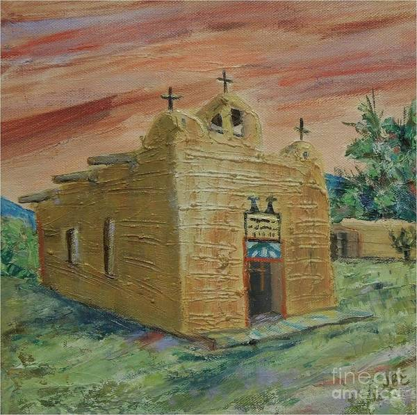 Church Art Print featuring the painting San Juan de los Lagos - SOLD by Judith Espinoza