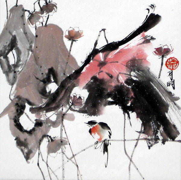 Chinese Painting Art Print featuring the painting Scene Of Snow by Ming Yeung