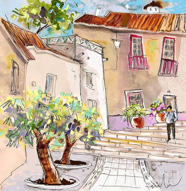 Portugal Paintings Art Print featuring the painting Serpa Portugal 36 by Miki De Goodaboom