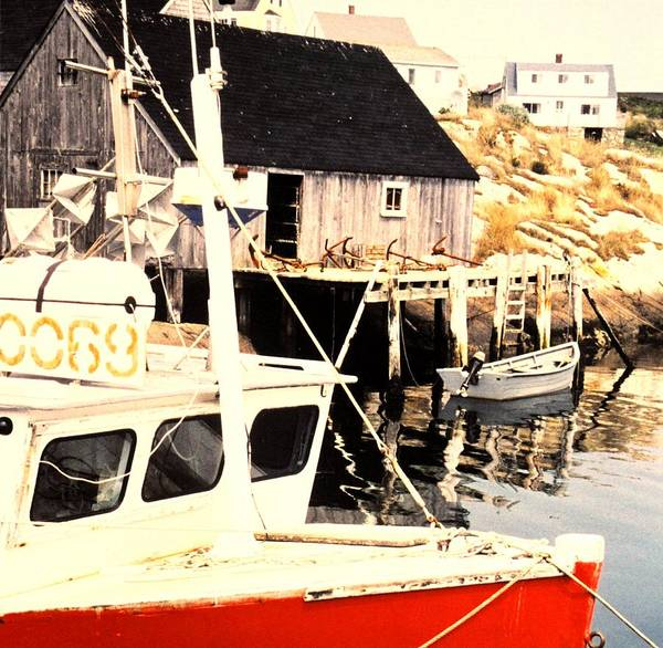 Peggys Cove Art Print featuring the photograph Sheltered Port by Ian MacDonald