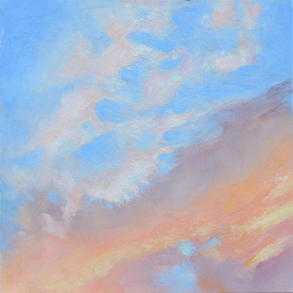 Oil Art Print featuring the painting Poet's Sky by Mary Chant