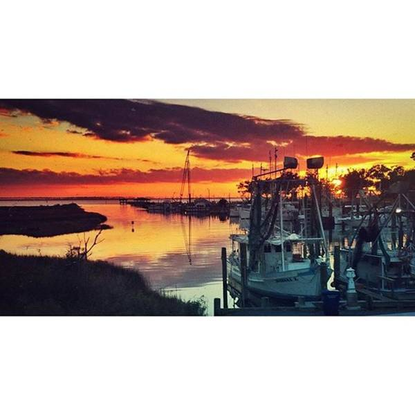 Iphone6 Art Print featuring the photograph Shrimp Boat Sunset #boats #harbor by Joan McCool
