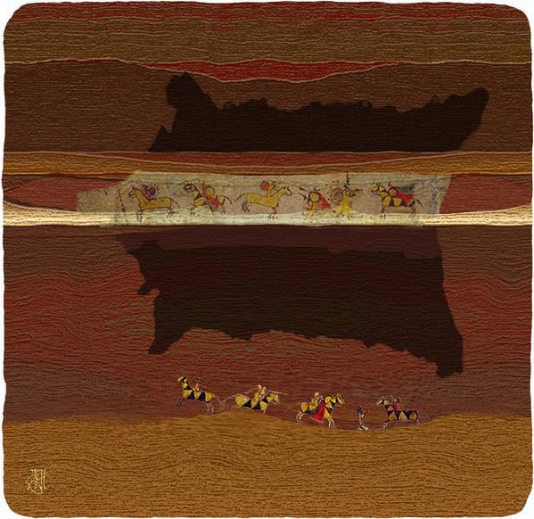 Buffalo Robe � Plains Indians. Art Print featuring the digital art Spirit of '76...1876 by John Helgeson