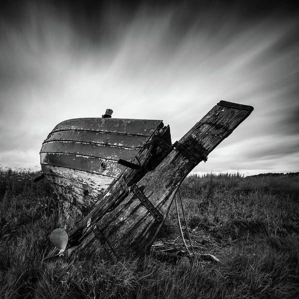 Fishing Boat Art Print featuring the photograph St Cyrus Wreck by Dave Bowman