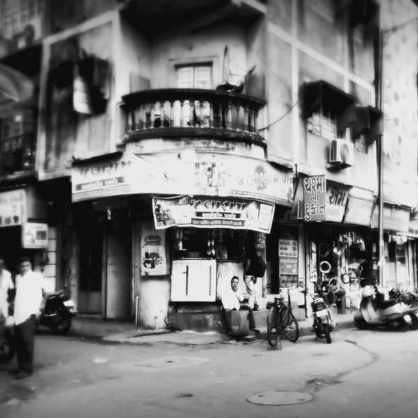 #street Photograohy #crossroads #street Corners #street Shops Art Print featuring the photograph StreetShots_Surat by Priyanka Dave