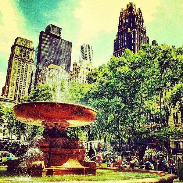 Nyc Art Print featuring the photograph Summer in Bryant Park by Luke Kingma