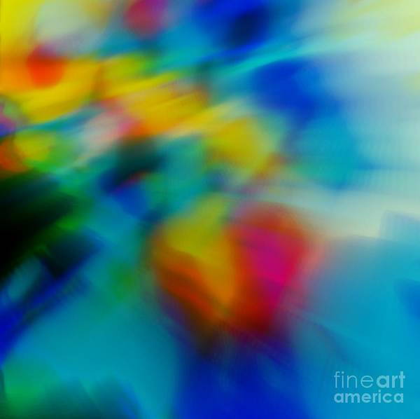 Abstract Art Print featuring the painting The Blossom Within by Wbk