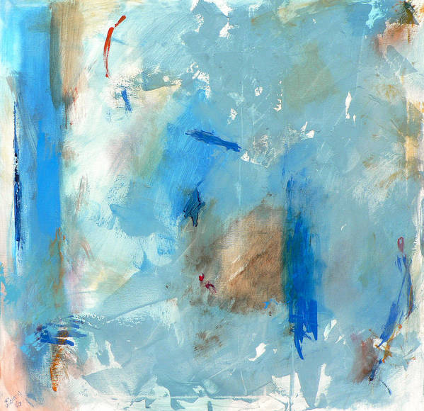 Abstract Art Print featuring the painting The Blues by Jacquie Gouveia