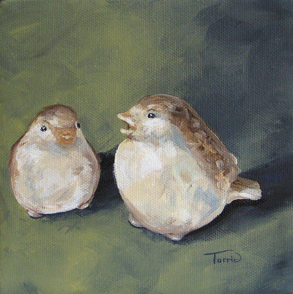Birds Art Print featuring the painting The Glass Birds by Torrie Smiley