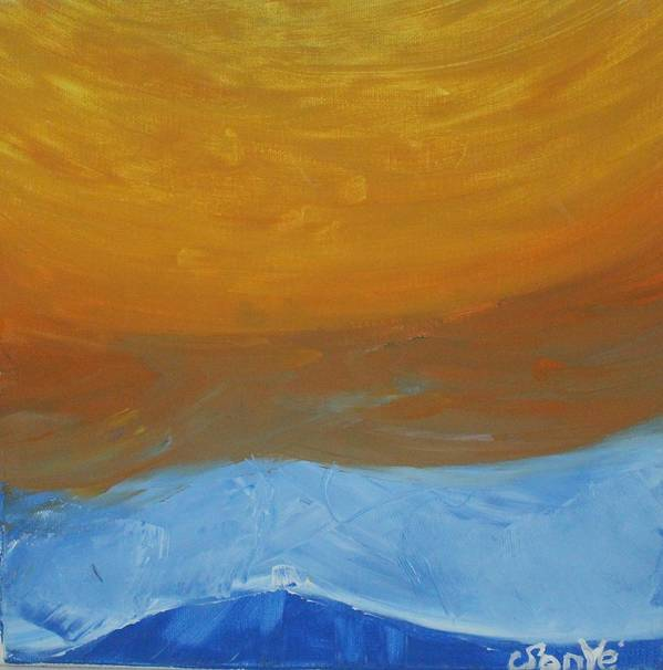 Sun Art Print featuring the painting The Sun by Sonye Locksmith