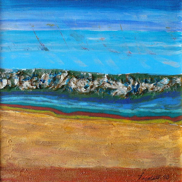 Art Print featuring the mixed media The Wave by Lisabeth Billingsley