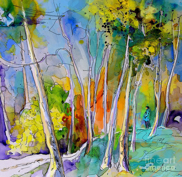 Landscape France Art Print featuring the painting Vieux-boucau 05 by Miki De Goodaboom