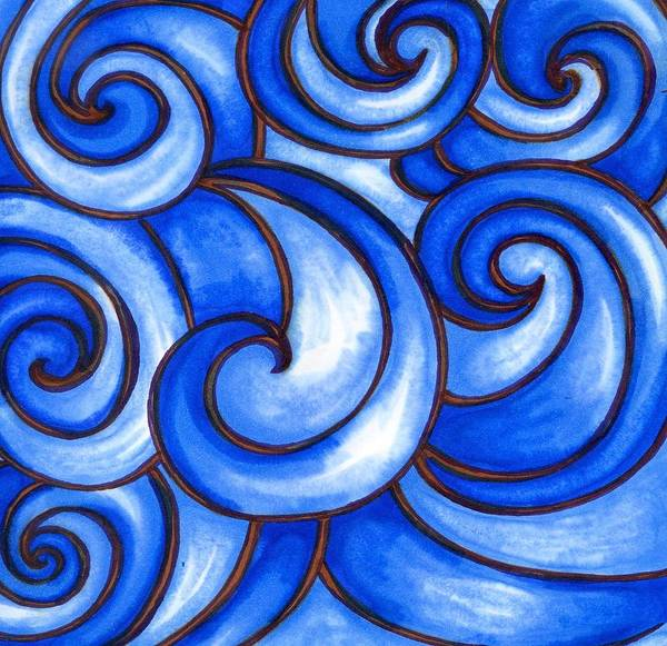 Water Art Print featuring the painting Waves of Mercy by Vonda Drees