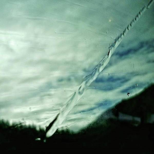 Glass Art Print featuring the photograph Wet Lightning #sky #water #rainy #rain by Rafa Rivas