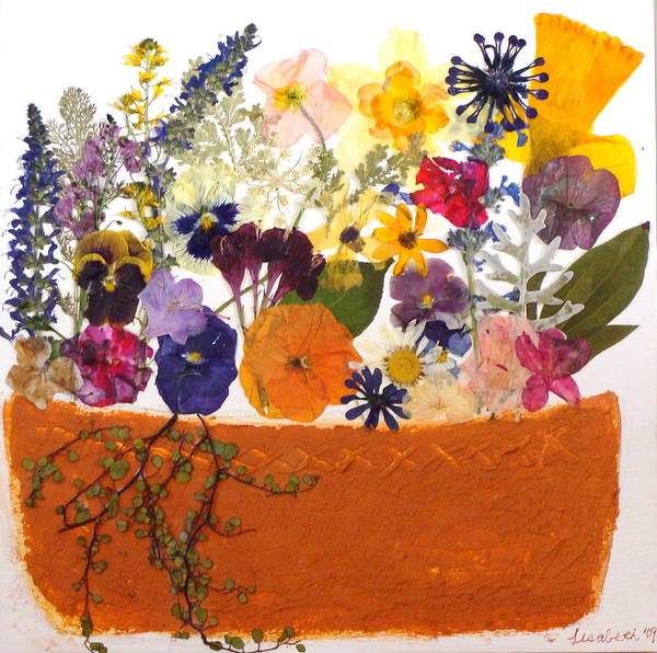 Picture Art Print featuring the mixed media Windowbox by Lisabeth Billingsley