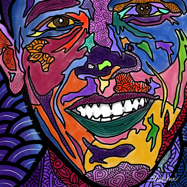 President Obama Art Print featuring the digital art Yes We Can Obama by Marconi Calindas