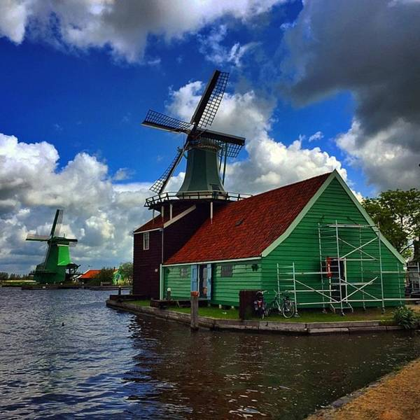 Outdoor Art Print featuring the photograph Zaanseschans #holland #neederlands by Luisa Azzolini