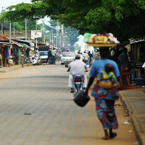 Trading Art Print featuring the photograph African Street Scene by Peeterv