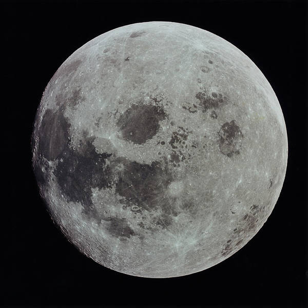 Black Background Art Print featuring the photograph Full Moon by Nasa
