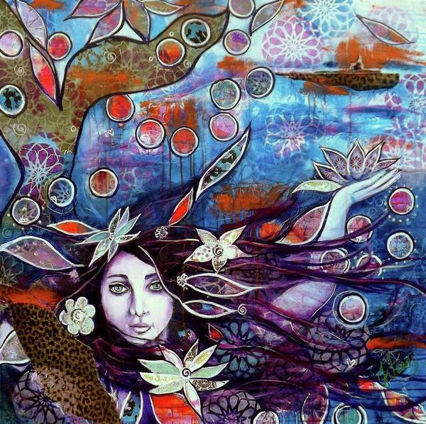 Mystical Painting Art Print featuring the painting In The Deep by Goddess Rockstar