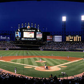 American League Baseball Art Print featuring the photograph Indians V White Sox by Jerry Driendl