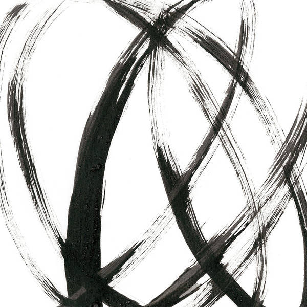 Abstract Art Print featuring the painting Linear Expression IIi by J. Holland