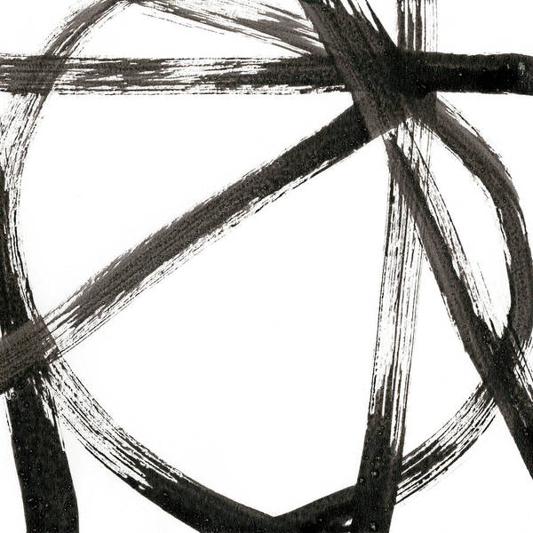 Abstract Art Print featuring the painting Linear Expression V by J. Holland