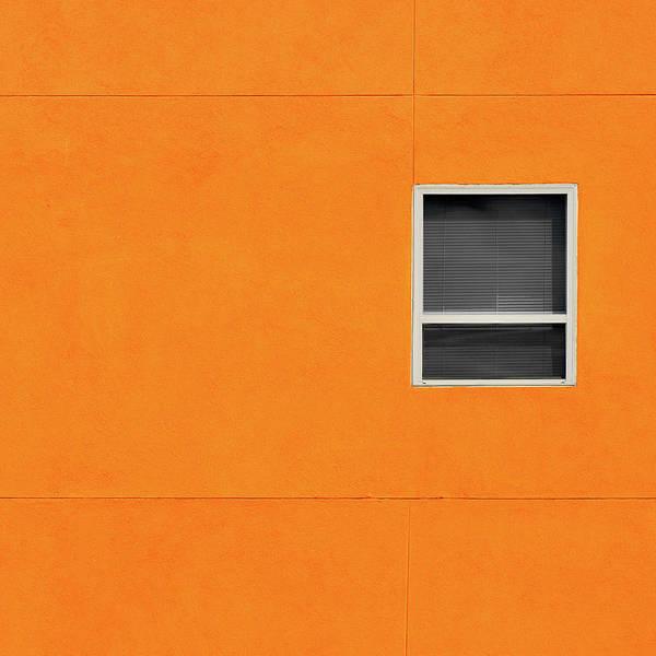 Urban Art Print featuring the photograph Very Orange Wall by Stuart Allen