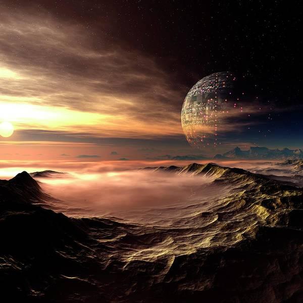 Concepts & Topics Art Print featuring the digital art Alien Planet, Artwork by Mehau Kulyk